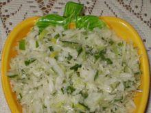Surówka biało-zielona :