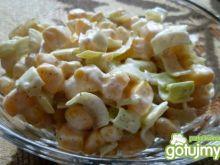 Surówka do obiadu z pora i kukurydzy