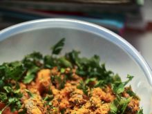 Surówka karotkowa z tahiną i pasta sojową