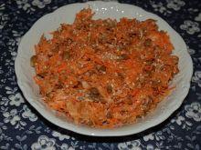 Surówka marchewkowa z soczewicą