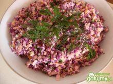 Surówka obiadowa z czerwonej kapusty