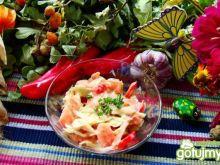 Surówka obiadowa z ostrym sosem
