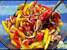 Surówka paprykowo pomidorowa