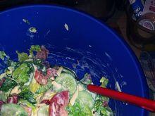 Surówka warzywna i siemię lniane