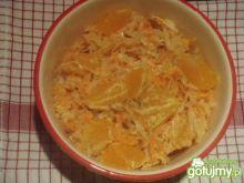 Surówka z kapusty z mandarynkami