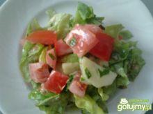 Surówka z pomidorem i ogórkiem.