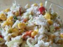 Surówka z pory, kukurydzy i papryki
