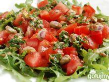 Surówka z rukoli i pomidorów