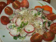 Sałatka z rzodkiewką i kiełkami cebuli