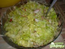 Surówka z sałaty lodowej z rzodkiewką