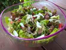 Surówka z sałaty, rzodkiewki i papryki