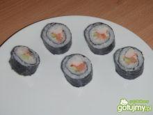 Sushi maki  -łosoś,krab,ogórek