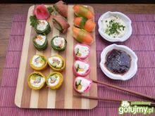 Sushi naleśnikowe tricolor