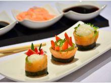 Sushi - salmon rolls
