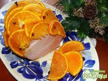 Świąteczna szynka w pomarańczach