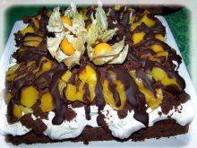 Świąteczny piernik czekoladowy z mango