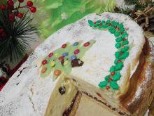Świąteczny sernik z konfiturą wiśniową