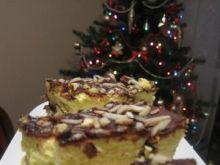 Świąteczny sernik z polewą czekoladową