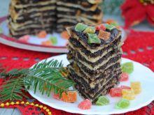Świąteczny tort naleśnikowy