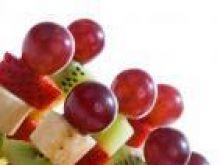 Świecznik z owoców