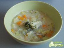 Sycąca zupa z młodej kapusty i brokuła.