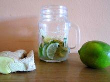 Syrop limonkowo-cytrynowo-imbirowy do herbaty