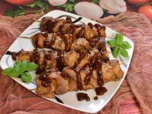 Szaszłyki w sosie barbecue