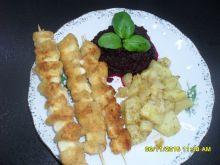 Szaszłyki z fileta z kurczaka i serka topionego