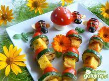 Szaszłyki z grillowanej polenty