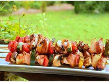 Szaszłyki z kurczakiem w sosie barbecue