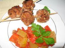 szaszłyki z mięsa mielonego z warzywami