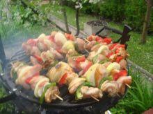 szaszłyki z piersi kurczaka