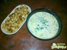 Szczypiorkowa zupa kremowa