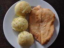 Sznycel z kurczaka z ziemniakami