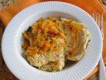 Sznycle indycze w marchewce i cukinii