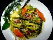 Szparagi w sosie do makaronu....))