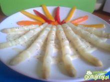 szparagi z sosem 4 sery z brokułami