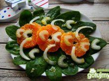 Szpinak z pomarańczą i selerem naciowym