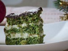 Szpinakowe ciasto bounty z ciecierzycą