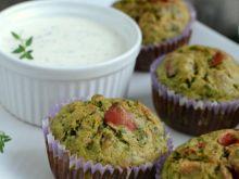 Szpinakowe muffiny z papryką
