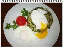 Szpinakowe risotto z jajkiem w koszulce