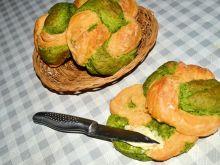 Szpinakowo- pomidorowe chałki (bułeczki)