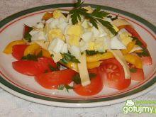 Szybka sałatka pomidorowa.