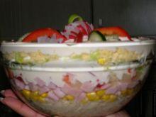 Szybka salatka warstwowa z porá