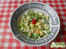 Szybka sałatka z pora i jajek