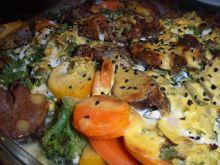 Szybka zapiekanka mięsno - warzywna