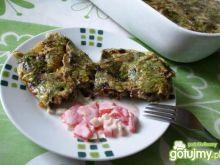 Szybka zapiekanka-omlet z pieczarkami