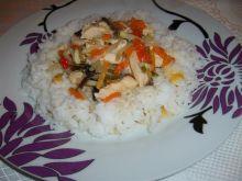 Szybki kurczak z ryżem z parowaru