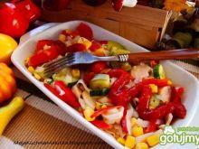 Szybki makaron chiński z warzywami