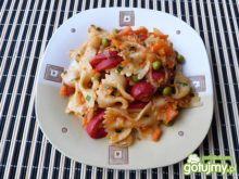Szybki obiad z makaronu i warzyw